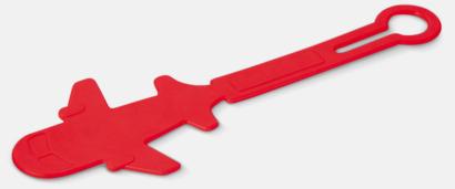 Röd Bagagerickor formade som flygplan med reklamtryck