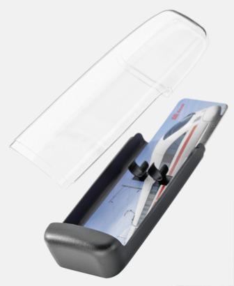 Plastfodral inlägg 2 (se tillval) Adam med transparent kropp och plastklips - med reklamtryck