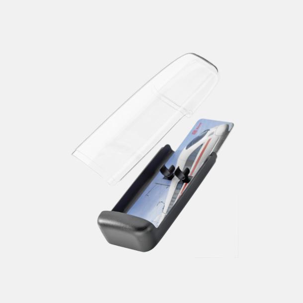 Plastfodral inlägg 2 (se tillval) Adam med transparent kropp och metallklips - med reklamtryck