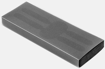 Plast slipcase EVA 2 (se tillval) Metallpennor i soft touch-hölje med reklamlogo