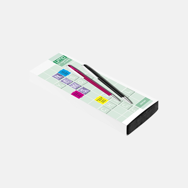 Plast slipcase EVA digital 2 (se tillval) Bläckpennor med blanka, opaka kroppar - med reklamlogo