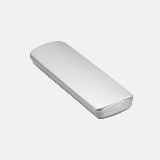 Metalletui 2 silver (se tillval) Adam med transparent kropp och plastklips - med reklamtryck