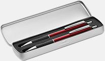 Metalletui 2 silver (öppen) Bläck- & styluspenna i metall med reklamlogo
