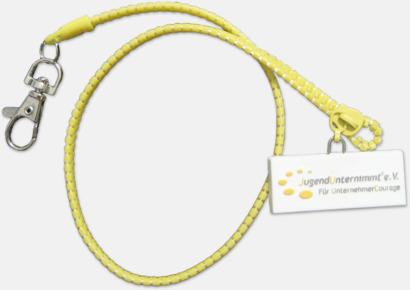 Nyckelband designade som dragkedjor - med reklamtryck