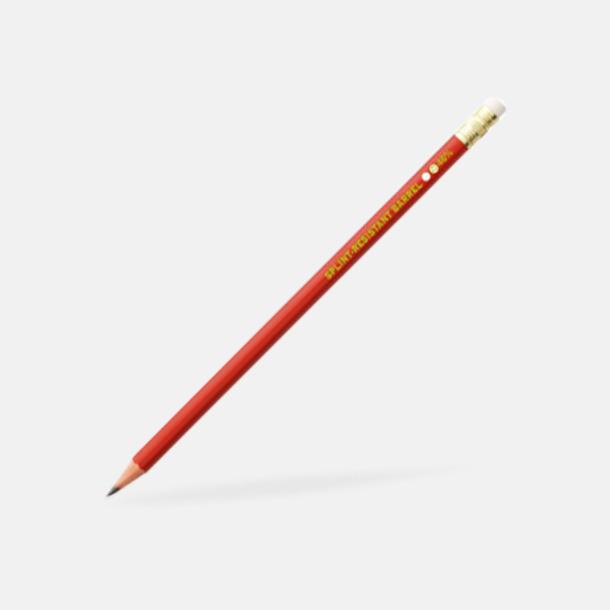 Röd (med sudd) Ekologiska Bic-pennor med reklamtryck