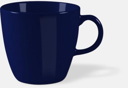 Marinblå Bastanta muggar med reklamtryck
