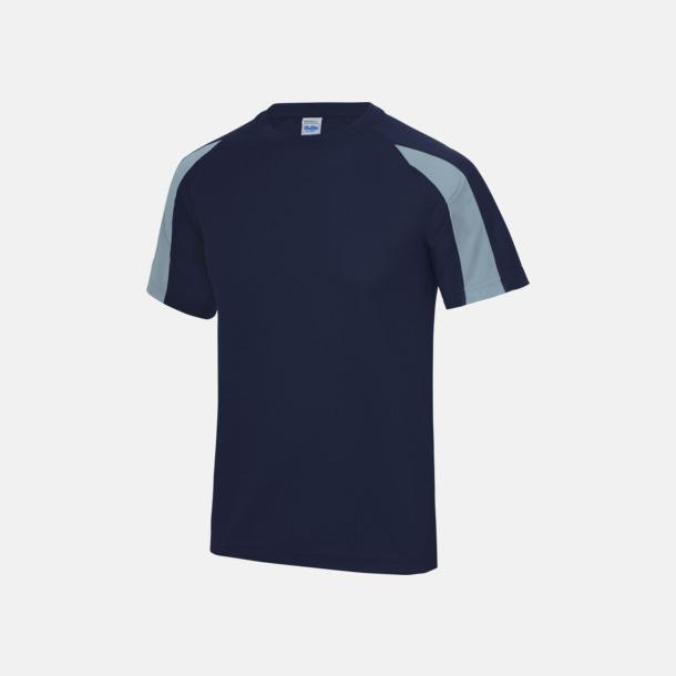 Oxford Navy/Sky Blue Tvåfärgade sport t-shirts för barn & vuxna - med reklamtryck