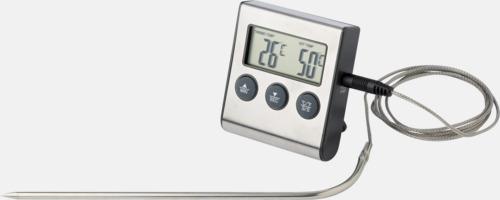 Billig stektermometer & timer - med reklamtryck