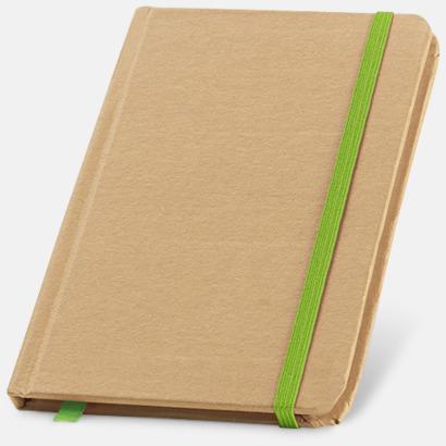 Natur / Ljusgrön Miljövänliga notisböcker med reklamtryck