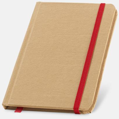 Natur / Röd Miljövänliga notisböcker med reklamtryck