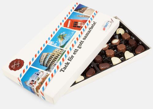 400 gram Belgiska praliner i askar med digitaltryck