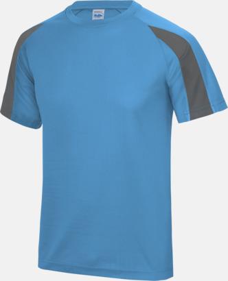 Sapphire Blue/Charcoal Tvåfärgade sport t-shirts för barn & vuxna - med reklamtryck