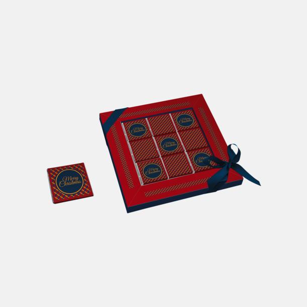 Julvariant 9-bitars chokladaskar med reklamtryck