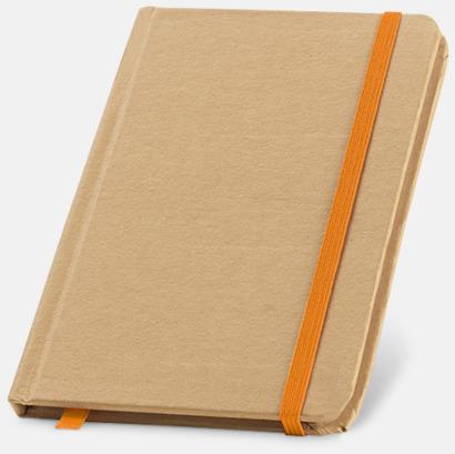 Natur / Orange Miljövänliga notisböcker med reklamtryck