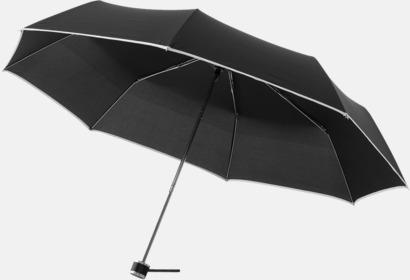 Svart / Natur Balmain kompaktparaplyer med reklamtryck