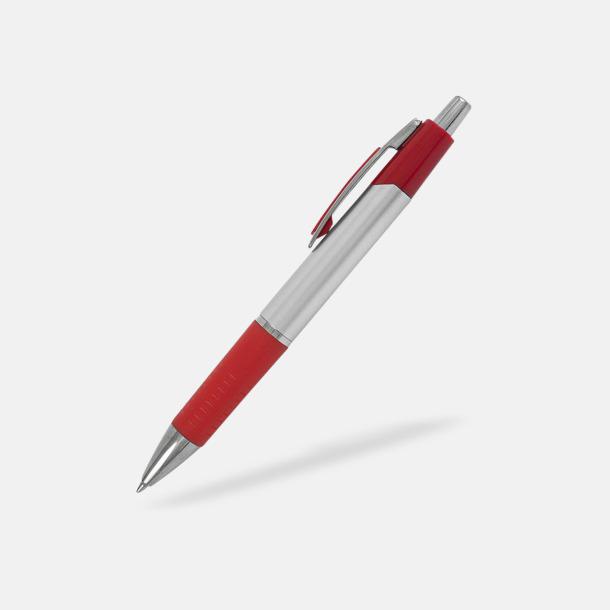 Röd Silverfärgade bläckpennor med reklamtryck