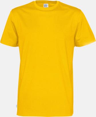 Gul (herr) Multicertifierade t-shirts med reklamtryck