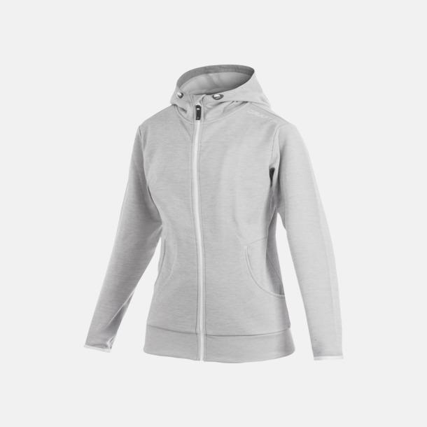 Grey Melange Leisure Full Zip Hood (dam) Craft funktionsjacka med huva i herr- och dammodell med reklamtryck