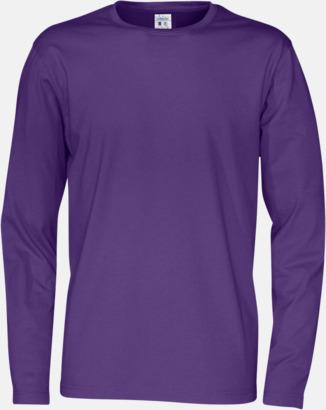 Lila (herr) Långärmade eko t-shirts med reklamtryck