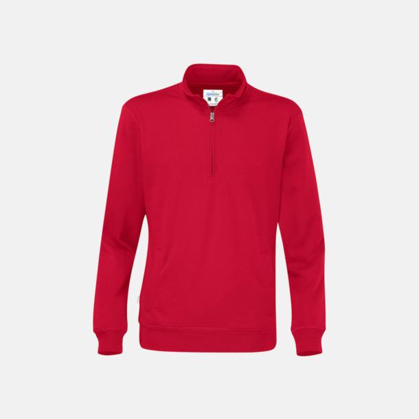 Röd Eko & Fairtrade tjocktröjor med reklamtryck