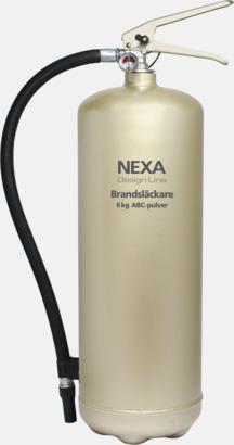 Champagne (6 kg) Brandsläckare i två storlekar från Design Line-serien