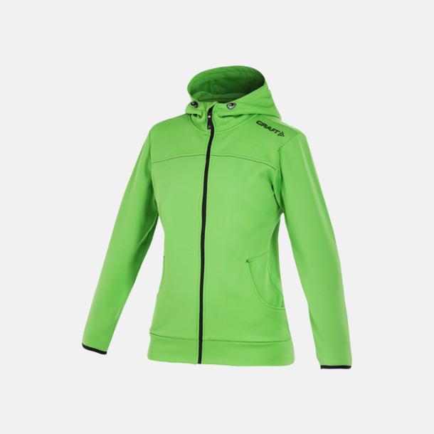 Craft Green Leisure Full Zip Hood (dam) Craft funktionsjacka med huva i herr- och dammodell med reklamtryck