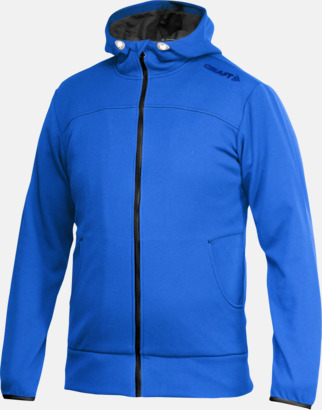 Sweden Blue Leisure Full Zip Hood (herr) Craft funktionsjacka med huva i herr- och dammodell med reklamtryck