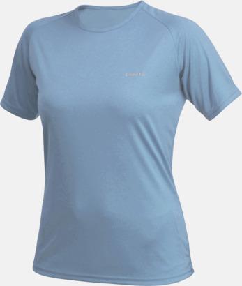 Aqua (dam) Funktion t-shirts från Craft med reklamtryck