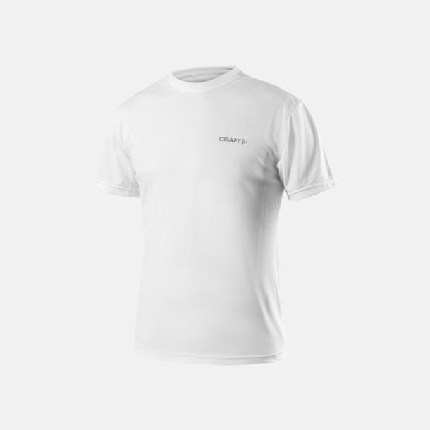 Vit (herr) Funktion t-shirts från Craft med reklamtryck