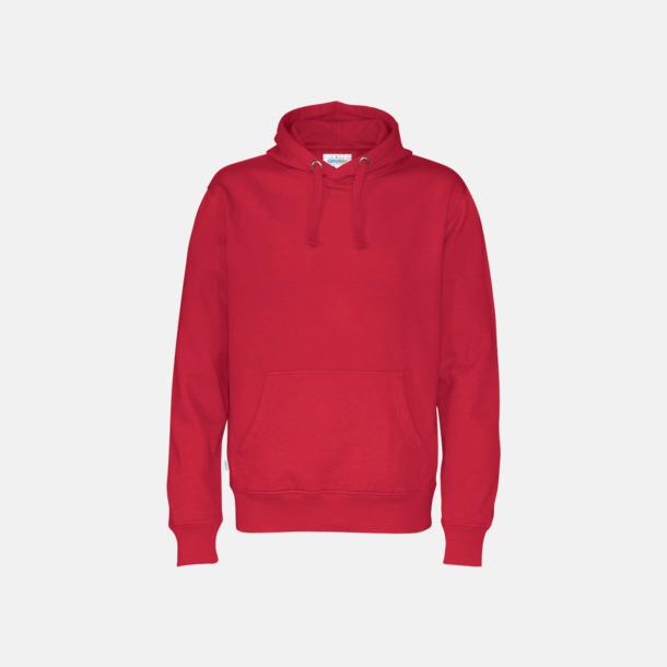 Röd (herr) Eko & Fairtrade huvtröjor med reklamtryck