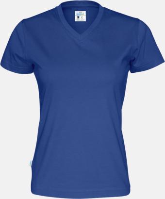 Royal (dam) Svanen- & Fairtrade-certifierade v-ringade t-shirts med reklamtryck