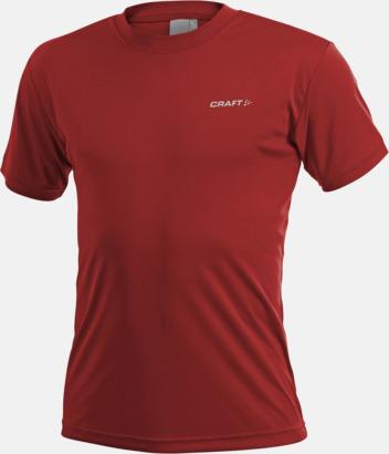 Röd (herr) Funktion t-shirts från Craft med reklamtryck
