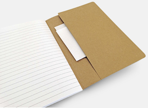 Eko skrivblock med linjerade blad - med reklamtryck