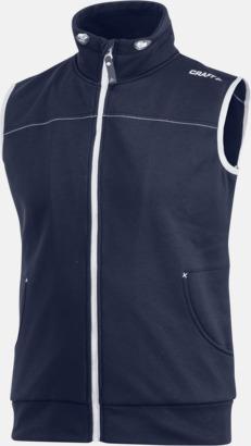 Dark Navy (herr) Pullovervästar från Craft i herr- och dammodell med reklamtryck