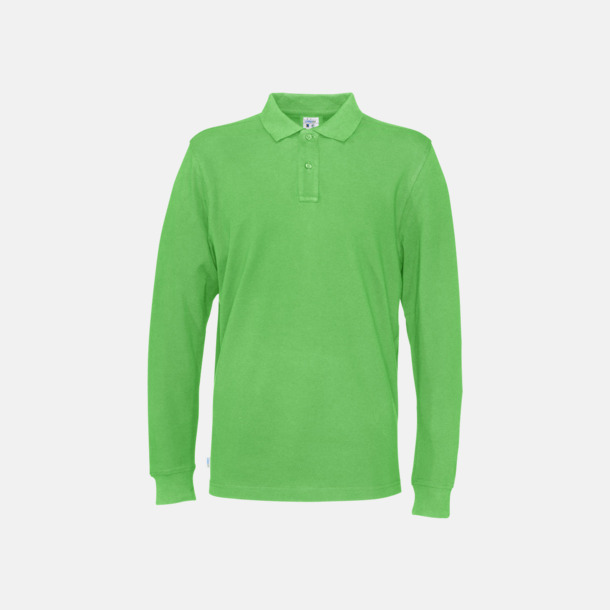 Grön (herr) Longsleeve eko & Fairtrade pikéer med logo