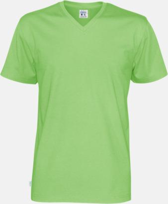 Grön (herr) Svanen- & Fairtrade-certifierade v-ringade t-shirts med reklamtryck