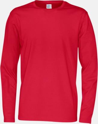 Röd (herr) Långärmade eko t-shirts med reklamtryck
