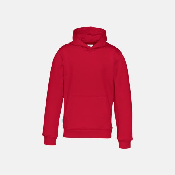 Röd (barn) Eko & Fairtrade huvtröjor med reklamtryck