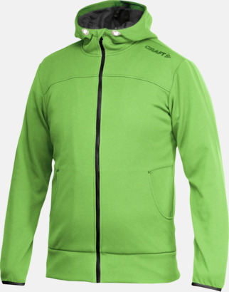 Craft Green Leisure Full Zip Hood (herr) Craft funktionsjacka med huva i herr- och dammodell med reklamtryck
