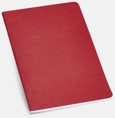 Röd A5-ekohäften i flera färger med reklamtryck