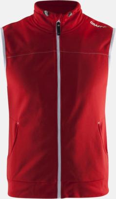 Bright Red (herr) Pullovervästar från Craft i herr- och dammodell med reklamtryck