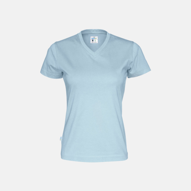 Sky (dam) Svanen- & Fairtrade-certifierade v-ringade t-shirts med reklamtryck
