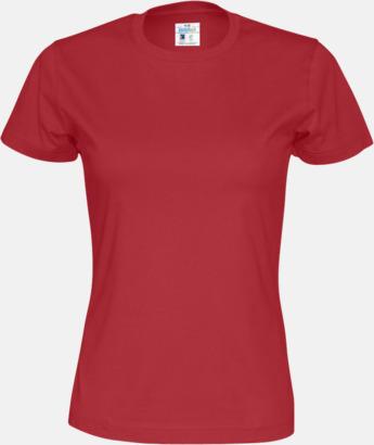 Röd (dam) Multicertifierade t-shirts med reklamtryck