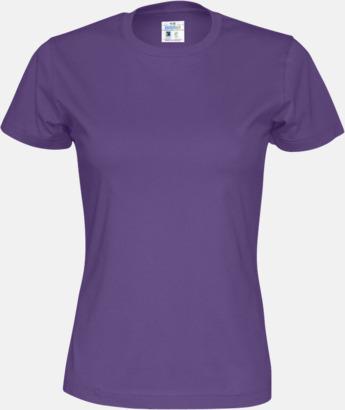Lila (dam) Multicertifierade t-shirts med reklamtryck