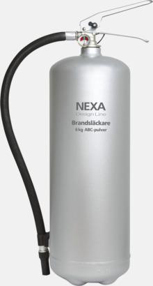 Silver (6 kg) Brandsläckare i två storlekar från Design Line-serien