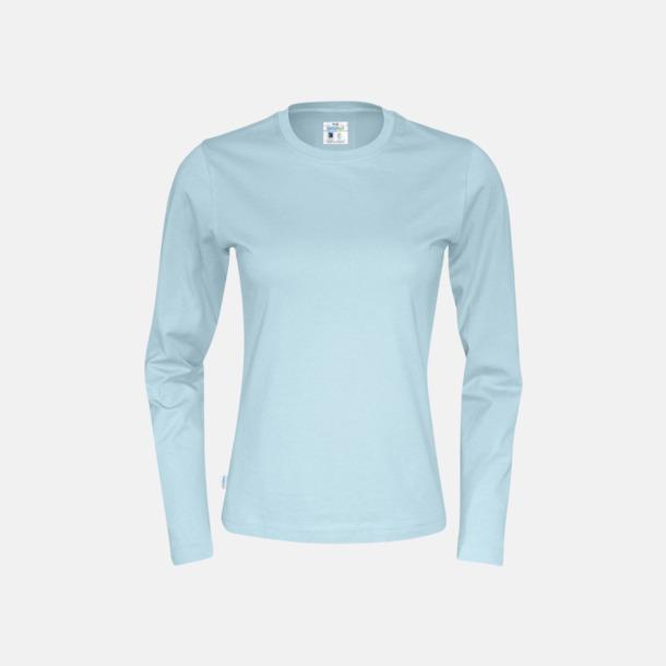 Sky (dam) Långärmade eko t-shirts med reklamtryck