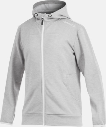 Grey Melange Leisure Full Zip Hood (herr) Craft funktionsjacka med huva i herr- och dammodell med reklamtryck