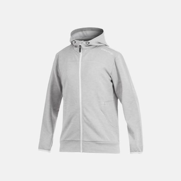 Grey Melange Leisure Full Zip Hood (herr) Craft funktionsjacka med huva i herr- och dammodell med reklamtryck
