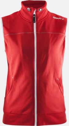 Bright Red (dam) Pullovervästar från Craft i herr- och dammodell med reklamtryck