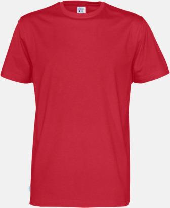 Röd (herr) Multicertifierade t-shirts med reklamtryck